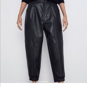 Zara faux leather pants ( 10) new with tags